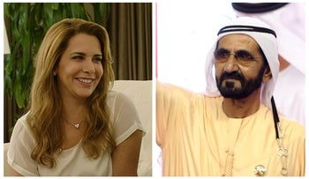 Princess Haya of Jordan and Dubai's Ruler Sheikh Mohammed bin Rashid Al Maktoum