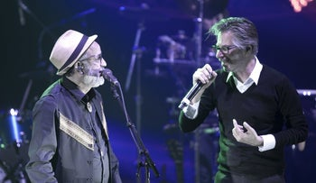 Ehud Banai, left, in concert with Yuval Banai in 2015.