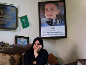 Wallah Gheith, Abdallah's mother, last month.