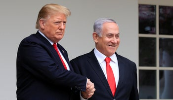 Donald Trump and Benjamin Netanyahu at the White House, March 25, 2019.