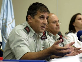 FILE Photo: Maj. Gen. (res.) Meir Klifi during a press conference, 2006.