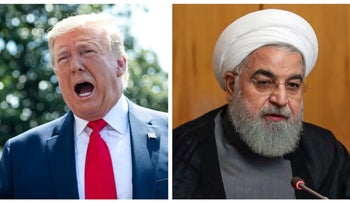 Trump and Rohani.