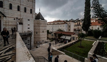 The Church of the Annunciation in Nazareth, Northern Israel.