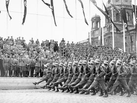 File photo: German troops reach Vienna, Austria shortly after the annexation of Austria into Nazi Germany, March 24, 1938.
