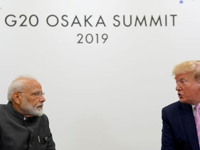 U.S. President Donald Trump attends a bilateral meeting with India's Prime Minister Narendra Modi  during the G20 leaders summit in Osaka, Japan, June 28, 2019
