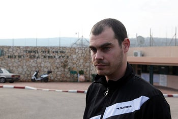 Jonathan Pollak at Hermon Prison in 2011.