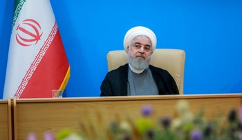 Iranian President Hassan Rohani during meeting in Tehran, Iran, June 25, 2019.
