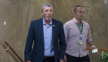 Education Minister Rafi Peretz at the Prime Minister's office, Jerusalem, July 2019.