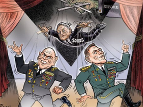 The cartoon drawn by Garrison which sparked criticism.