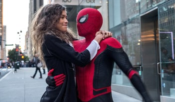 "Tom Holland and Zendaya in ""Spider-Man: Far from Home."""