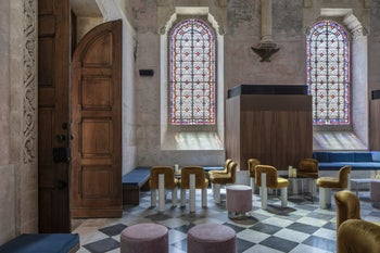 The Chapel in The Jaffa luxury hotel. The one-time chapel was deconsecrated before it was turned into a cocktail bar.