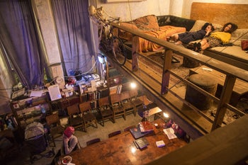 Hithavut in Tel Aviv. One of the few synagogue spaces converted into a bar.