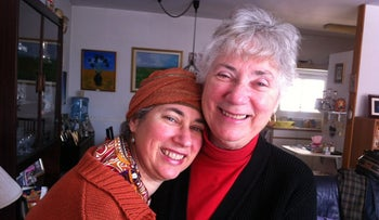 "Miriam Green, left, with her mother Naomi Cohen. Green's book, ""The Lost Cookbook,"" is about her mom's Alzheimer's."
