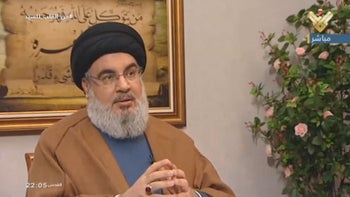 Hassan Nasrallah in an interview aired by al-Manar TV on July 12, 2019.