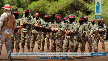 Fighters of the al-Qaeda-linked coalition known as Hay'at Tahrir al-Sham, training in Idlib province, Syria. Aug 20, 2018