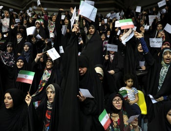 Protest Against Liberal Dress Code Iran