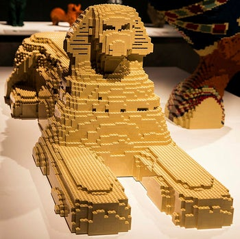 'The Art of the Brick' LEGO exhibition in Holon.
