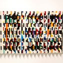 """""""Homage to G.B."""" at the Yaacov Agam Museum."""
