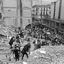 FILE Photo: Firemen search for wounded people after a bomb exploded at the Argentinian Israelite Mutual Association, 1994.