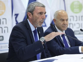Education Minister and Habayit Hayehudi Chairman Rabbi Rafi Peretz at the Education Ministry, July 11, 2019.
