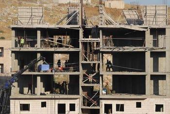 הכנות להריסת מבנה בוואדי אל-חומוס, הבוקר
