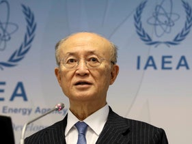 IAEA Director General Yukiya Amano addresses the media during a news conference in Vienna, Austria, November 22, 2018.