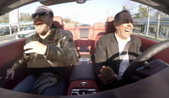 """Seinfeld with Ricky Gervais in Season 11 of """"Comedians in Cars Getting Coffee."""" Good chemistry makes good comedy."""