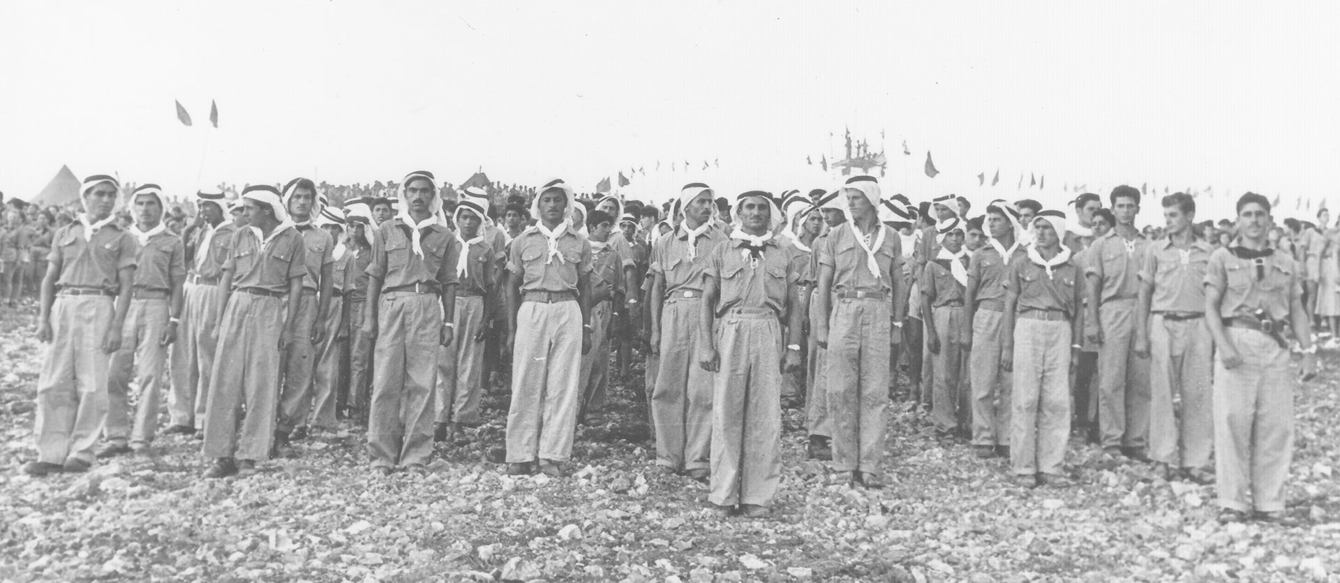 Members of the Pioneer Arab Youth movement, 1956. The organization 'implanted all kinds of hopes about fraternity, peace and friendship,' the son of one veteran says.