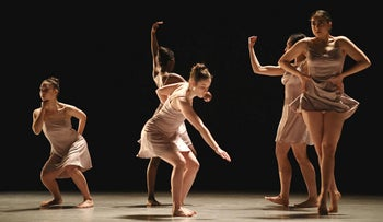 The Batsheva Ensemble performing George & Zalman by Ohad Naharin.