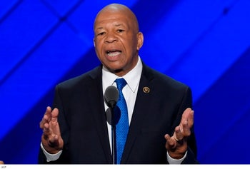 U.S. Rep. Elijah Cummings during the Democratic National Convention in Philadelphia, Pennsylvania, 2016.