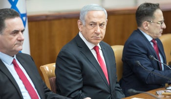 Netanyahu during a cabinet meeting in Jerusalem, May, 2019.