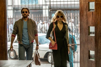 """Chris Evans and Haley Bennett in Netflix's """"The Red Sea Diving Resort."""""""