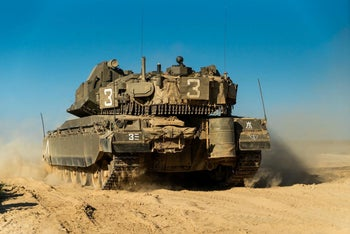 Israeli forces during a maneuver simulating a war in Gaza, July 2019.