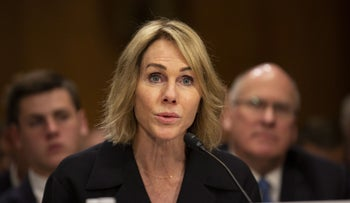 Kelly Craft testifies at her nomination hearing before the Senate Foreign Relations Committee in Washington, June 19, 2019.