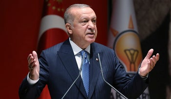 Turkey's President Recep Tayyip Erdogan speaks in Ankara, Turkey, July 26, 2019.