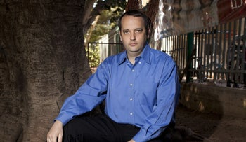 """Rabbi Gilad Kariv in Ramat Gan. """"For the first time in many years, there is a real opportunity to create political change,"""" says the 45-year-old, running for the Democratic Union."""