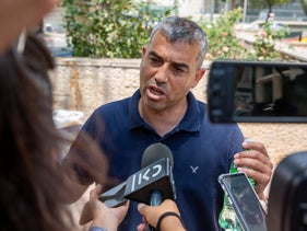 Samer Sleiman files a complaint against the Israel Police, Jerusalem, August 7, 2019.