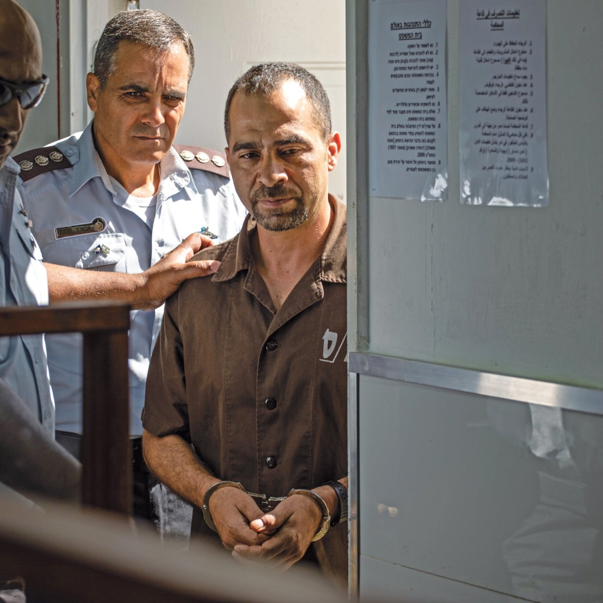 Tarek Barghout during his trial at the military court on the Ofer base, June 2019.