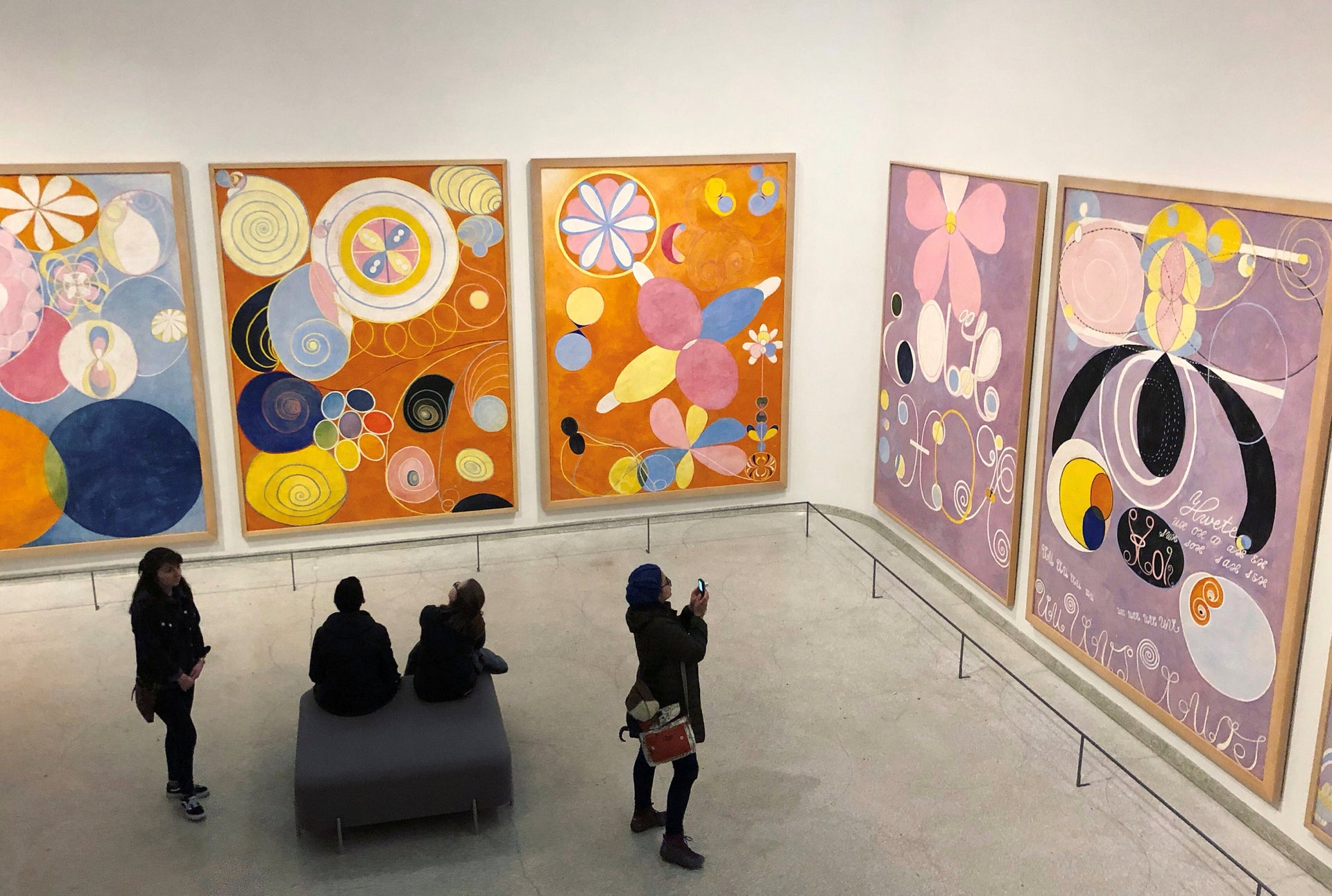 Hilma af Klint's show at the Guggenheim in New York.