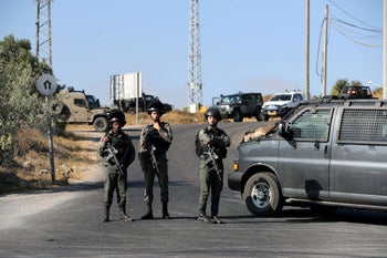 Border Police troops in the Gush Etzion area in the West Bank where Dvir Sorek was murdered, August 8, 2019.