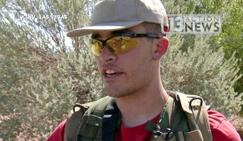 A Sept. 22, 2016, photo from video from KTNV 13 Action News shows Conor Climo during an interview while walking a Las Vegas neighborhood.