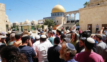 Jews worshipers on Temple Mount, August 11, 2019.