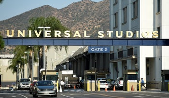 Entrance to the Universal Studios lot in Universal City, California, August 23, 2016.