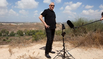 Benny Gantz, leader of the Kahol Lavan party and prime minister hopeful, during a tour of the Gaza border area, August 2019.