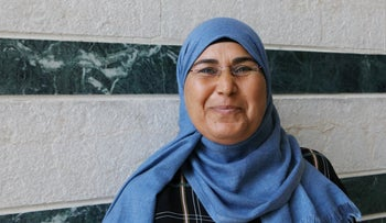 Samia Elkrinawi, who studied in the adult education program for Bedouin women last year.