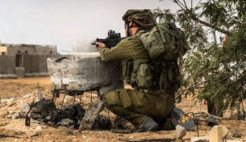 An IDF reserve division in training, December 12, 2017.