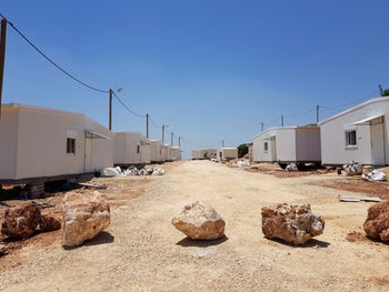 The Neve Achi settlement outpost, named by Peace Now as one of the dozens of outpost Israeli authorities have retroactively legalized in the West Bank. July 7, 2019