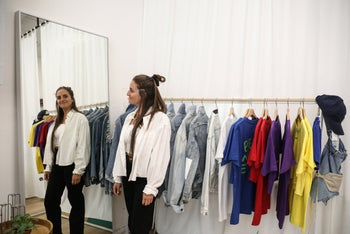 """Chana Boteach at her Kosher Sex store in Tel Aviv, August 2019. """"You can take a glance at the clothes and then make your way over here [to Kosher Sex] and look around and ask questions."""""""