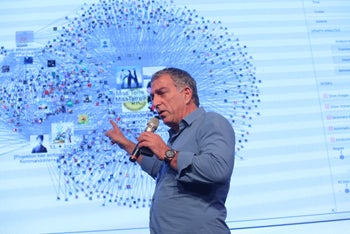 Mati Kochavi at TheMarker's digital conference in Tel Aviv, December 2018