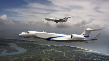 Two Gulfstream 5 business jets modified for Israel's air force spy planes squadron